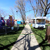 Jonathan Tressler - The News-Herald. This is as quiet as the walkway down the center of the square in Chardon will likely be for the next few days, as the final preparations for the 87th Annual Geauga County Maple Festival are made April 20. The event runs through April 24.