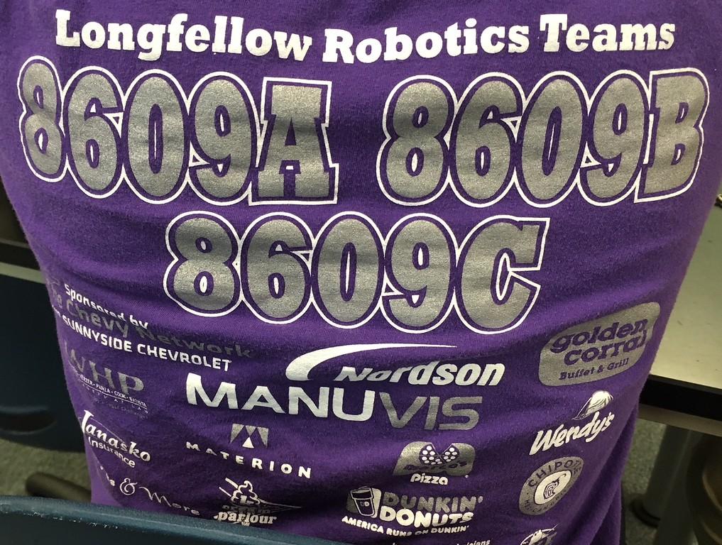 . Richard Payerchin - The Morning Journal <br> Lorain City Schools\' Longfellow Middle School Team Titanious Robotics will head to the VEX Robotics World Championship, scheduled April 25 to 28 in Louisville.
