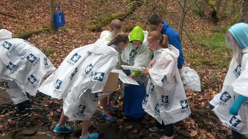 Submitted   Sixth-graders from Madison Middle School explore a stream at Holden Arboretum on April 28, 2016, as part of the YMCA Arthur Holden Leadership Institute.