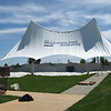 Richard Payerchin - The Morning Journal <br> A crew from Aable Rents sets up the canopy over the stage at Black River Landing, Lorain's waterfront festival site, on May 3, 2017. Erecting the canopy signals the unofficial start of summer, or at least the start of preparation for summer, at Black River Landing.
