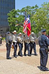 Photo by Shannon Wilson / Tyler Morning Telegraph Members of Smith Couty area law enforcement participate in a memorial service to remember law enforcement officials who have died in the line of duty in Smith County and Texas.