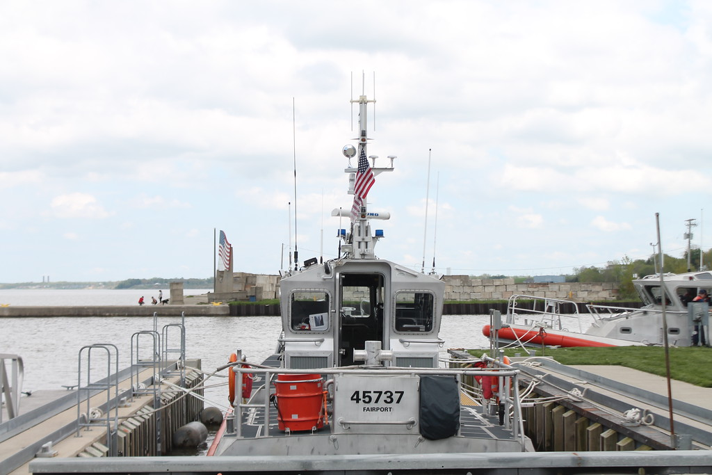 . The Coast Guard\'s 25\' foot response boat docked at the Fairport station was available to view during the USCG Fairport Station Open House on May 19. Kristi Garabrandt - The News-Herald