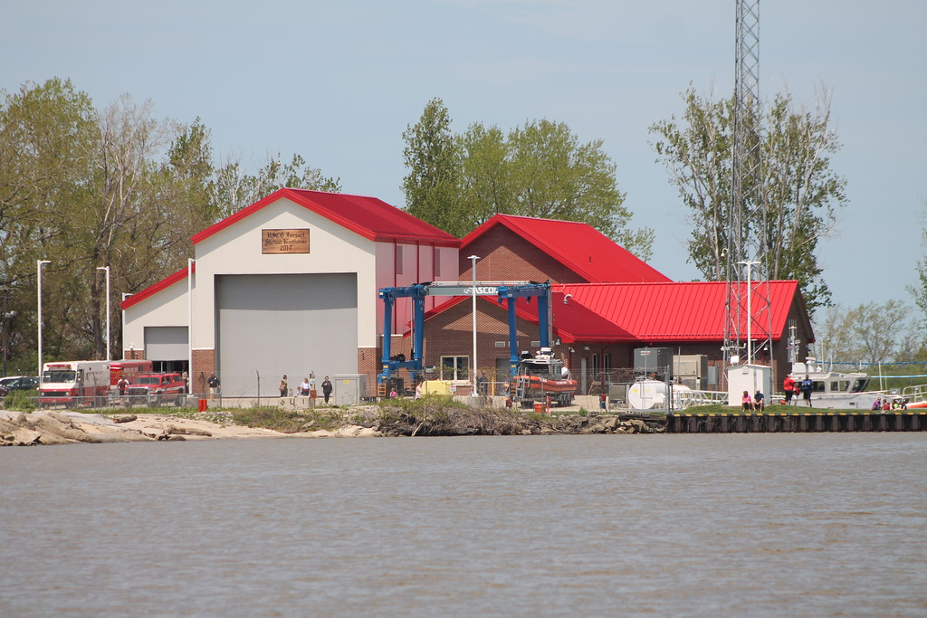 . A view of the USCG Fairport Station  from the Grand River . Kristi Garabrandt - The News-Herald