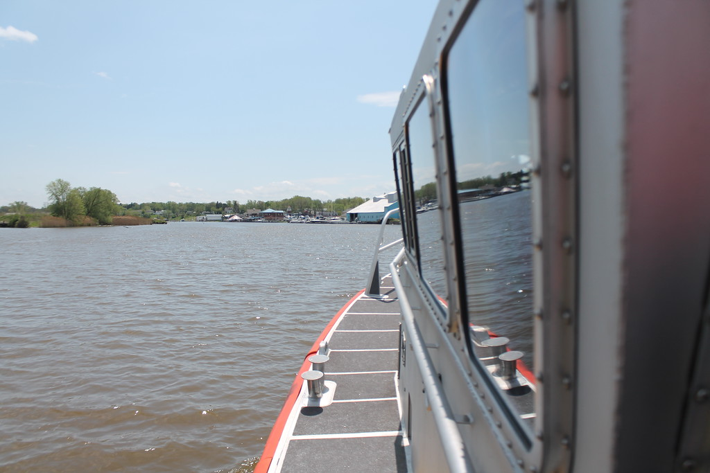 . A view of the Grand River from the deck of the  45\' foot response boat the Coast Guard uses for search and rescues . Kristi Garabrandt - The News-Herald