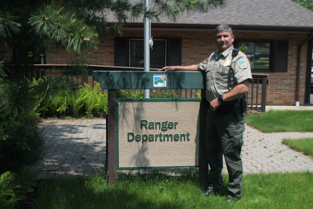 . Kristi Garabrandt � The News-Herald <br> Sergeant Chris Gutka starts a new position as park ranger at Lake Metroparks after retiring from the Eastlake Police Department where he worked for 22 years.