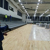 Carol Harper - The Morning Journal <br> Workers install bleachers in a triple gymnasium at a new Lorain High School at 2700 Ashland Ave., Lorain. Access to the gymnasium is through an athletic entrance on the west side of the building.