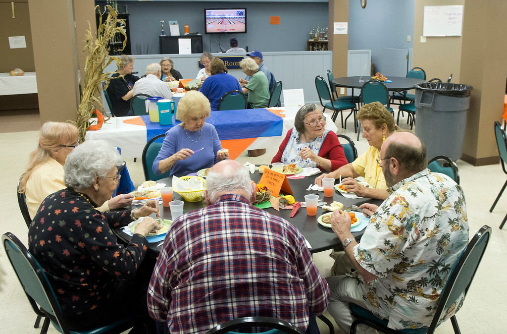 . Seniors eat lunch in November 2015 at the Painesville Area Senior Citizens Center in the Dorthy Allen Building, 85 N. Park Place.  (News-Herald file)