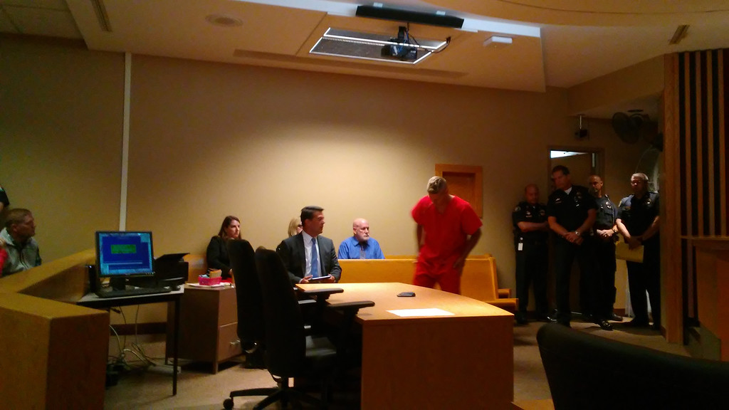 . Brian A. Anthony enters Mentor Municipal Court on June 25. (Betsy Scott - The News-Herald)