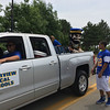 Carol Harper - The Morning Journal <br> The Clearview Clippers mascot rides in the truck.
