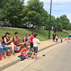 Carol Harper - The Morning Journal <br> Groups waited for Lorain International Parade on various levels.