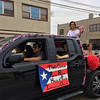 Carol Harper - The Morning Journal <br> Puerto Rican princess Thalia Cintron adds bubbles to a 50th Anniversary Lorain International Festival Parade June 26, 2016, on Broadway Avenue in Lorain.