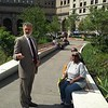 Cleveland Mayor Frank Jackson talking to Public Square re-opening attendees