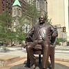 Mayor Tom L. Johnson statue, Public Square re-opening