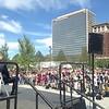 Media presence, Public Square re-opening