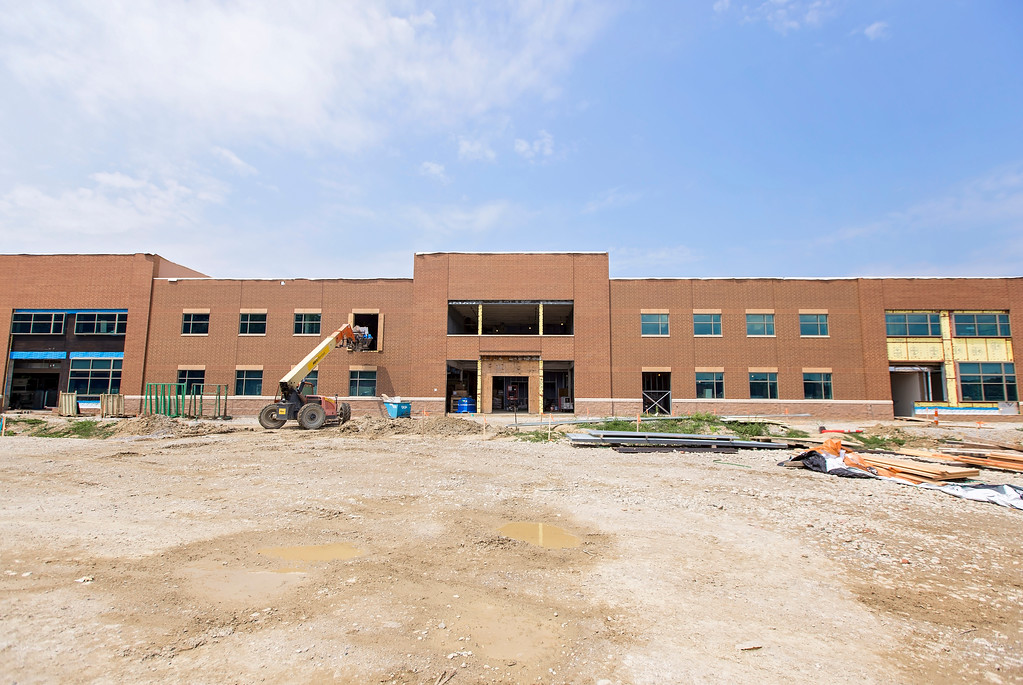 . The Lake Health Mentor Wellness Campus is taking shape at the corner of Market Street and Munson Road. (Carrie Garland - For The News-Herald)