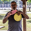 Submitted<br /> Painesville Disc Golf Vice President Mickey Anderson displaying discs used to play disc golf.