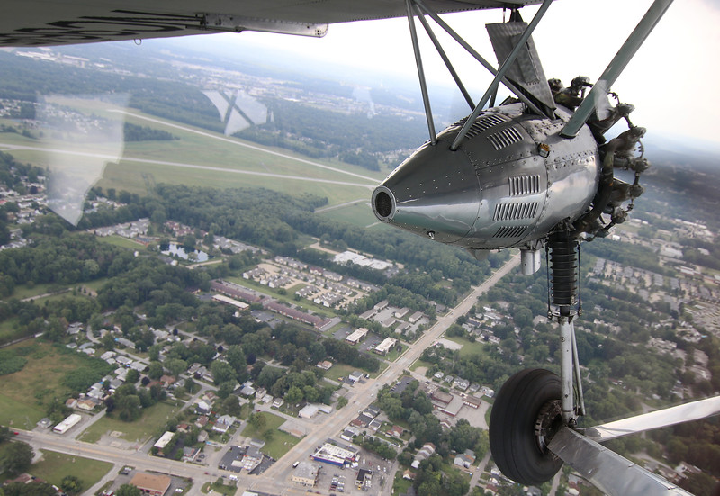 Jonathan Tressler - The News-Herald. Another view of the left-most motor on the Ford Tri-Motor plane visiting Northeast Ohio through Aug. 13 is seen in this Aug. 10 image.