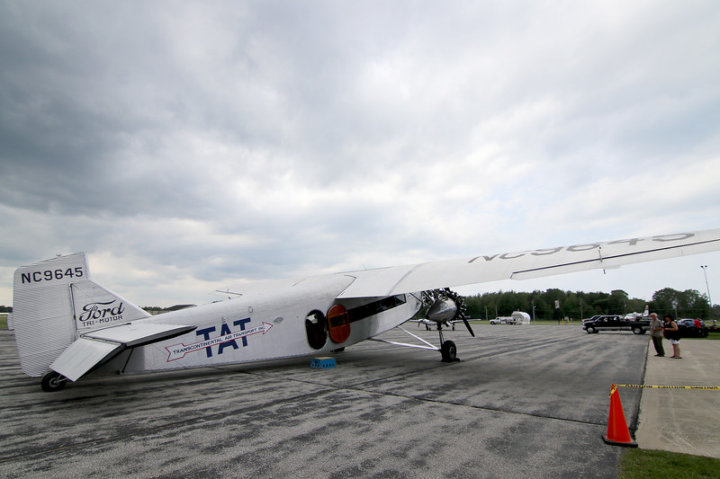 Jonathan Tressler - The News-Herald. A view of the right-rear of the Ford Tri-Motor aircraft visiting Lost Nation Airport through Aug. 12, photographed Aug. 10.