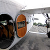 Jonathan Tressler - The News-Herald. A view of the porthole-esque entry/exit door on the Ford Tri-Motor aircraft visiting Lost Nation Airport through Aug. 12, photographed Aug. 10.