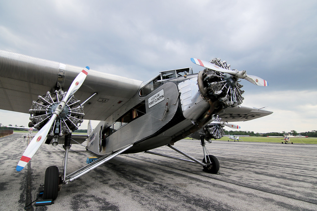 . Jonathan Tressler - The News-Herald. Aview of the the Ford Tri-Motor aircraft visiting Lost Nation Airport through Aug. 12, photographed Aug. 10.