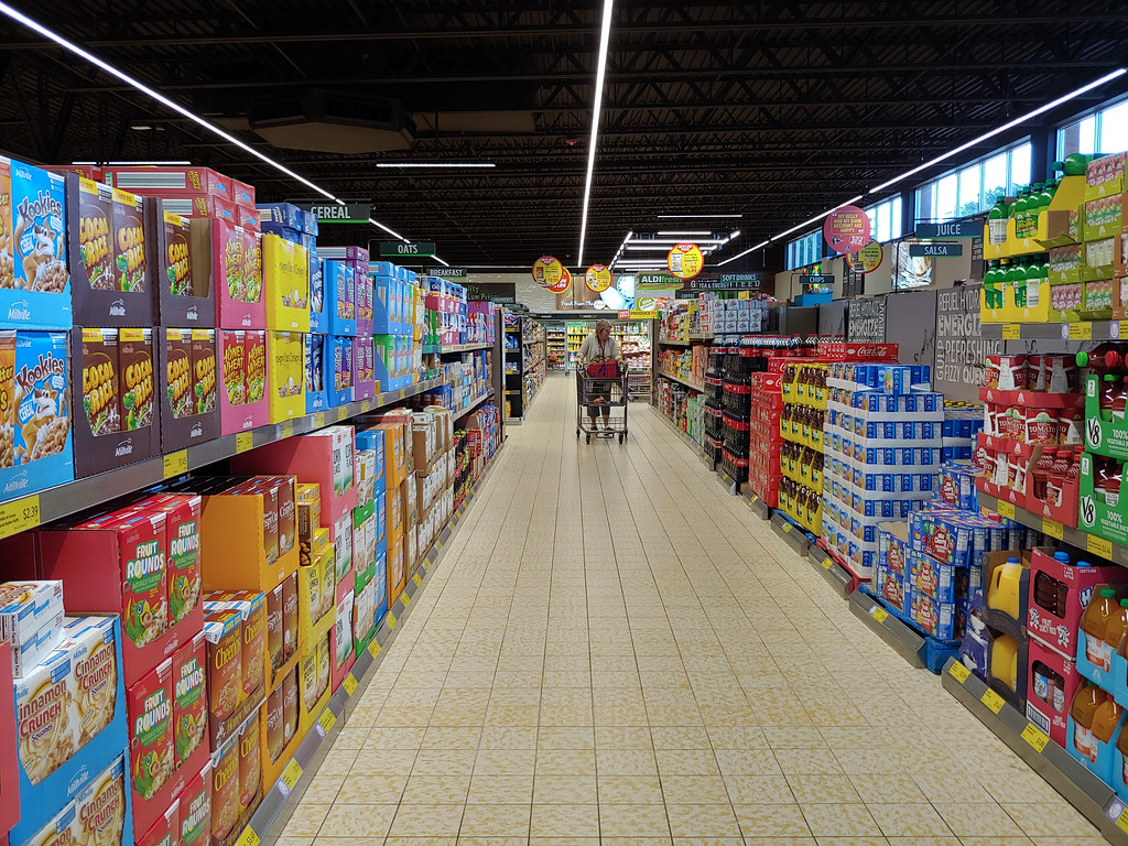 . The newly remodeled Chardon Aldi held a grand reopening ceremony Aug. 23. The main change at the store is more space. (Betsy Scott, The News-Herald)