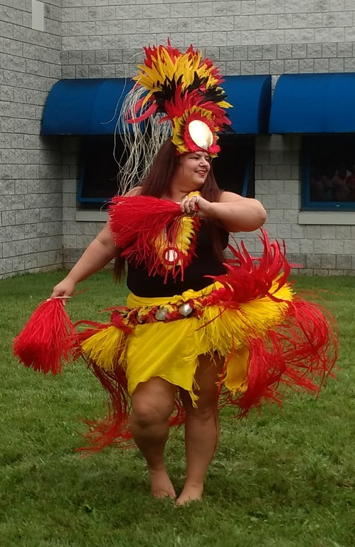 . Submitted art  Roseann Riggins  of Hula Fusion perform at Deepwood\' s Willoughby Branch\'s annual luau.
