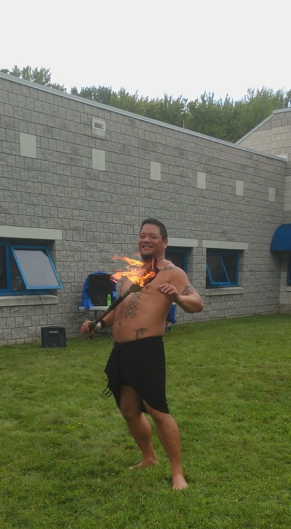 . Submitted art  Firenesia dancer Ku\'u performs at Deepwood\'s Willoughby Branch annual luau.