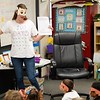 BEN GARVER — THE BERKSHIRE EAGLE<br /> Second grade teacher Billie Lamoureaux, from Morningside Elementary School in Pittsfield, asks the students about different ways to imagine 100  during the 100th day of school. In this case they will write a few paragraphs about spending $100.Morningside School is one of several schools in Pittsfield to celebrate the 100th day of school, using the number 100 for learning across disciplines.