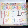 BEN GARVER — THE BERKSHIRE EAGLE<br /> Morningside Elementary School celebrates their 100th day of school with poster made by the After School club hung in the hallway, Thursday, February 7, 2019. <br /> .