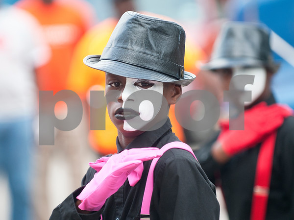 Nic Holmes, 13, of Tyler, performs in mime at the annual Community Faith-Based Health Walk to promote living a healthy lifestyle Saturday Oct. 10, 2015 at Woldert Park in Tyler. Nearly 200 people completed the one and a half mile walk starting and ending at the park.  (Sarah A. Miller/Tyler Morning Telegraph)