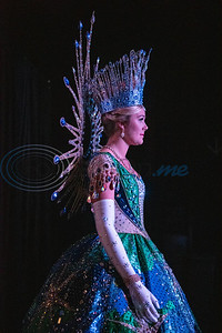 """Texas Rose Festival Queen Hanna Claire Waits rehearses for the Queen's Coronation at the Cowan Center in Tyler on Thursday Oct. 18, 2019. The festival celebrates the rose growing history of Tyler. Elaborate gowns worn by the Queen and her court were designed by Winn Morton under the theme """"Portraits of Inspiration.""""  (Sarah A. Miller/Tyler Morning Telegraph)"""