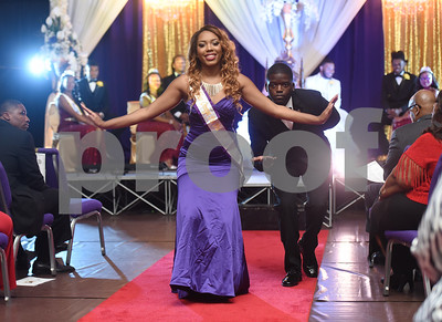 Mr. and Miss Omega Psi Phi, LeDarion Harris and Shaundria Willis, bow to the audience during the Miss Texas College coronation ceremony Thursday Oct. 20, 2016.    (Sarah A. Miller/Tyler Morning Telegraph)