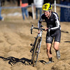 Jeremiah Gantzer struggles in the sand pit during the Men's Elite race of The Boulder Cup at the Valmont Bike Park in Boulder, Colorado October 30, 2011.  CAMERA/Mark Leffingwell