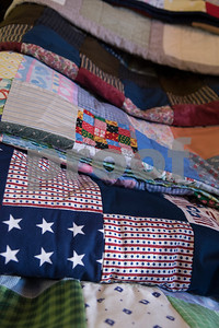 Quilts made by the Sewing Sisters of Texas, a non-profit group of women whose main focus is making quilts for children of military members through the Seven Stars Foundation, is pictured Oct. 25, 2017. The group meets at a gallery in Frankston to make quilts together. The majority of their fabrics and notions come from donations.   (Sarah A. Miller/Tyler Morning Telegraph)