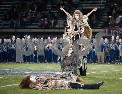 """photo by Sarah A. Miller/Tyler Morning Telegraph  The Lindale High School Star Steppers drill team performs their 8th annual zombie dance routine to Michael Jackson's """"Thriller"""" during their home game Friday Oct. 31, 2014."""