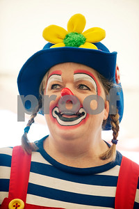 Tricia Gregory of Irving dresses as clown Hanky at the Big Top Superstar Extravaganza at the Texas Clown Association Convention at the Holiday Inn in Tyler, Texas Saturday Oct. 3, 2015. The extravaganza was an event for the clowns to perform under a circus tent for special needs children and adults.   (Sarah A. Miller/Tyler Morning Telegraph)