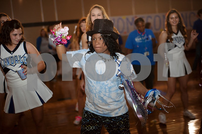 Jessica Willis, 18, dances during a special homecoming dance at Lindale High School Friday for 16 students with physical or mental handicaps. It was Lindale's first homecoming dance for special needs students.   (Sarah A. Miller/Tyler Morning Telegraph)