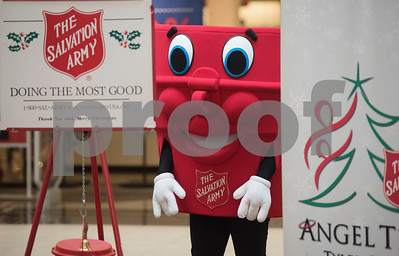 Captain Kettle makes an appearance during The Salvation Army Christmas Kick-Off Friday Nov. 10, 2017 at Broadway Square Mall. The Christmas Kick-Off launches The Salvation Army's 2017 Kettle and Angel Tree season. Volunteers will have the chance to ring bells with the iconic red kettle at over 37 locations around Smith County this year. The Salvation Army also registered over 2,500 children as Angels on the Angel Tree this year.   (Sarah A. Miller/Tyler Morning Telegraph)