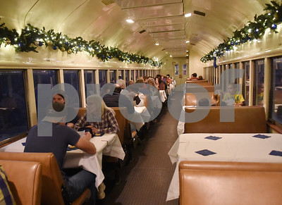 Passengers are seated for the Polar Express train ride at the Texas State Railroad in Palestine Monday Nov. 15, 2016.   (Sarah A. Miller/Tyler Morning Telegraph)