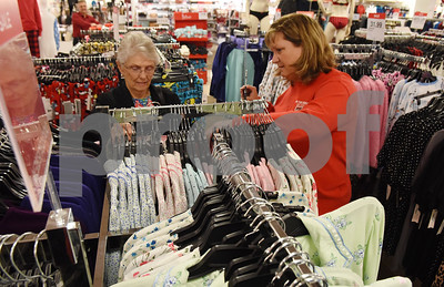 Peggy Ferrell of Tyler and Marla Clements of Flint shop in the pajama section of J.C. Penney in Tyler Friday Nov. 18, 2016. J.C. Penney will open Thanksgiving Day at 3 p.m. for their Black Friday sale.   (Sarah A. Miller/Tyler Morning Telegraph)