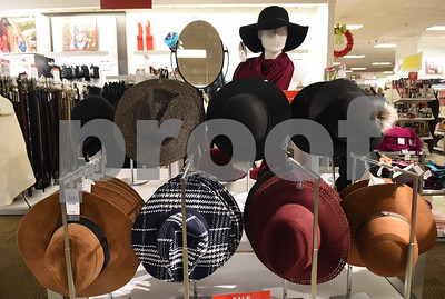 Hats are on display at J.C. Penney in Tyler Friday Nov. 18, 2016. J.C. Penney will open Thanksgiving Day at 3 p.m. for their Black Friday sale.   (Sarah A. Miller/Tyler Morning Telegraph)
