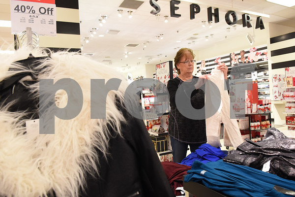 Diana Biggs of Grand Saline shops at J.C. Penney in Tyler Friday Nov. 18, 2016. J.C. Penney will open Thanksgiving Day at 3 p.m. for their Black Friday sale.   (Sarah A. Miller/Tyler Morning Telegraph)