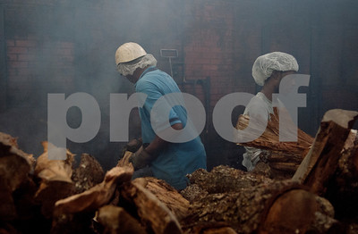 Workers tend to the smokehouses at Greenberg Smoked Turkey Inc. in Tyler, Texas Wednesday Nov. 11, 2015. Greenberg Smoked Turkey is a family-run business selling slow cooked hickory smoked turkeys seasoned with a family spice recipe.  (Sarah A. Miller/Tyler Morning Telegraph)