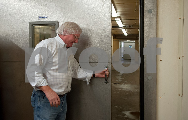 Owner Sam Greenberg gives a tour of the Greenberg Smoked Turkey Inc. operation facilities in Tyler, Texas Wednesday Nov. 11, 2015.  (Sarah A. Miller/Tyler Morning Telegraph)