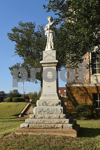 A Confederate monument is pictured at the Cherokee County Courthouse in Rusk.  (Sarah A. Miller/Tyler Morning Telegraph)