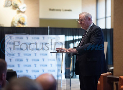 Steve Forbes, Chairman and Editor-in-Chief of Forbes Media speaks to local business leaders at a breakfast event called Leaders and Legends at the University of Texas at Tyler on Friday Nov. 2, 2018. The event was sponsored by UT-Tyler's Soules College of Business.  (Sarah A. Miller/Tyler Morning Telegraph)