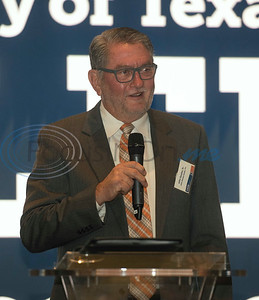 Event co-chair John Soules Sr., speaks at a breakfast event called Leaders and Legends at the University of Texas at Tyler on Friday Nov. 2, 2018. Steve Forbes, Chairman and Editor-in-Chief of Forbes Media, was the keynote speaker at the event, which was sponsored by UT-Tyler's Soules College of Business.  (Sarah A. Miller/Tyler Morning Telegraph)