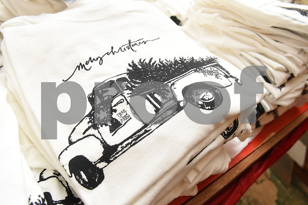 The gift shop at Trail Creek Farm sells shirts as well as Christmas decorations and food in Lindale Tuesday Nov. 22, 2016. Trail Creek Farm is a Christmas tree farm that also offers family activities such as a zip line, picnic areas and bounce houses.  (Sarah A. Miller/Tyler Morning Telegraph)
