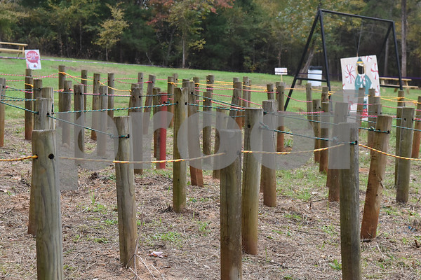 A children's maze at Trail Creek Farm Lindale is pictured Tuesday Nov. 22, 2016. Trail Creek Farm is a Christmas tree farm that also offers family activities such as a zip line, picnic areas and bounce houses.  (Sarah A. Miller/Tyler Morning Telegraph)