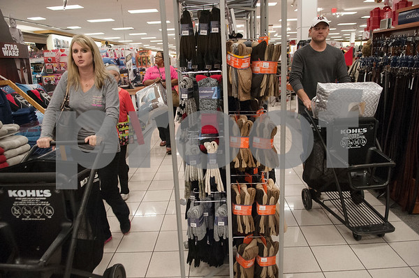 Shoppers take advantage of Black Friday sales on Thanksgiving Day at Kohl's Thursday Nov. 26, 2015 in Tyler, Texas.   (Sarah A. Miller/Tyler Morning Telegraph)